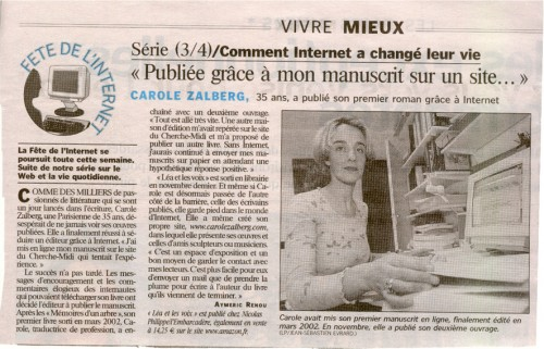 Léa et les voix - Le Parisien 2003