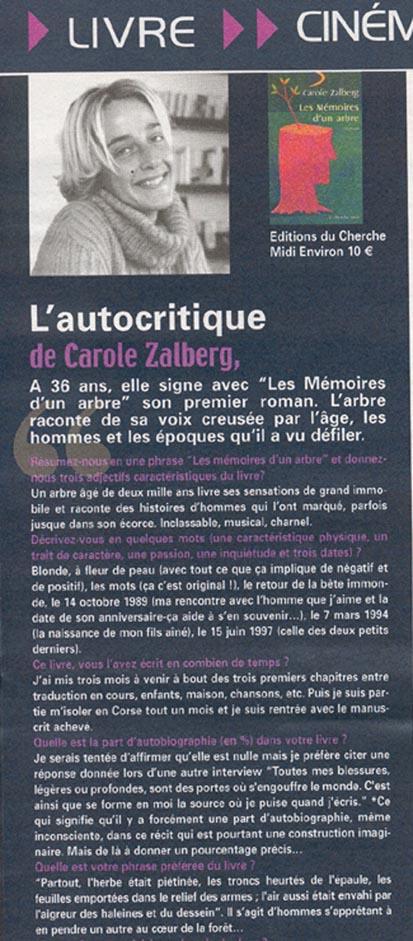 Interview-autocritique parue dans Ultraviolet de juin 2002