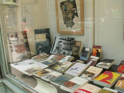 Vitrine coups de coeur de la librairie La Terrasse de Gutenberg
